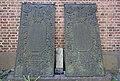 Gravminne gravplate i støpejern Margrete Olsdaater Holk 1650-1712 Olle Christensson 1675-1730 (18c cast iron plate grave epitaph) Tønsberg domkirke Norway 2020-08-25 03165.jpg