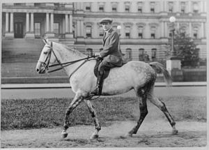 Cary T. Grayson - Grayson on horseback in 1920