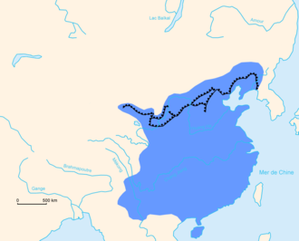 The extent of the Ming Empire and its walls GreatWallChina4.png