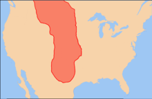 Map showing the extent of the Plano cultures