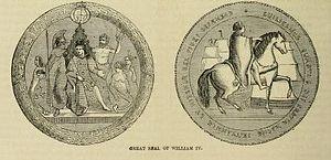 Benjamin Wyon - Great Seal of George IV, design by Benjamin Wyon