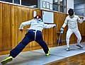 Greek Epee Fencers. Agapitos Papadimitriou (left) at Athenaikos Fencing Club.jpg