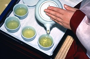 Korean tea - nokcha (green tea)