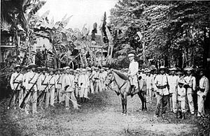 United States Military Government of the Philippine Islands - Gregorio del Pilar and his troops, around 1898.