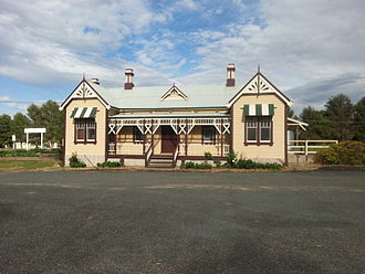 Grenfell railway station - The Grenfell railway station, as viewed from the street side, built in 1901.