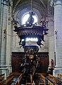 Grimbergen Basiliek Sint Servaas Innen Kanzel 2.jpg