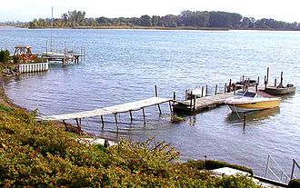 Grosse Ile Township, Michigan - A section of Grosse Ile waterfront