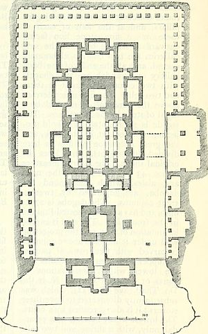 Kailasa temple, Ellora - Ground plan of the temple