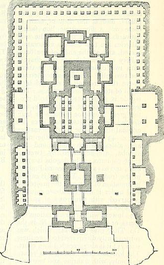 Kailasa temple, Ellora - Ground plan of the temple