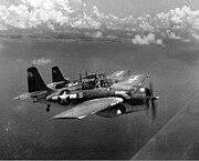 Grumman F4F Wildcat in formation