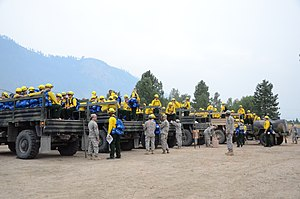 303rd Cavalry Regiment (United States) - 1/303rd Guardsmen depart for final training to assist in firefighting during the 2014 Washington wildfires
