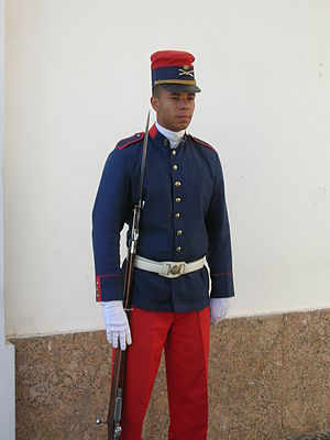 Fort Copacabana - Guard at entrance to Fort Copacabana