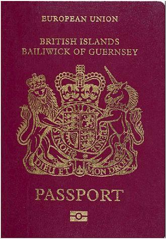 British passport - A British passport issued by Guernsey