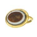 Guldring med agat från 1630 cirka - Livrustkammaren - 97915.tif
