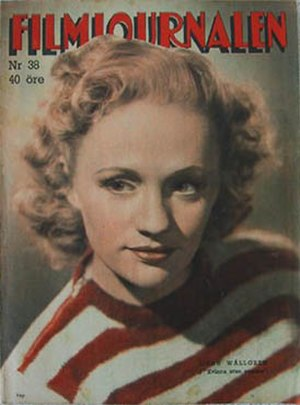 Gunn Wållgren - On the cover of Filmjournalen, 1947