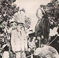 Guntur Sukarno wearing Hopi headdress, Presiden Soekarno di Amerika Serikat, p51.jpg