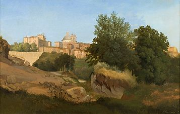 Gustaf Wilhelm Palm - Vy över Ariccia (1841).jpg