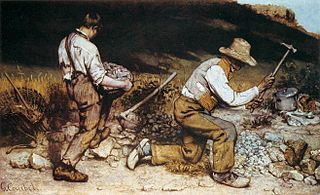 <i>The Stone Breakers</i> painting by Gustave Courbet