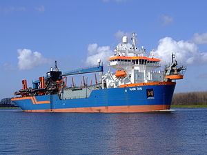 HAM 316 IMO 9160449 p1 at Nordsea channel, Port of Amsterdam, Holland.JPG