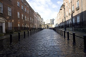 Georgian Dublin - Henrietta Street. The street contains some of the oldest and largest Georgian houses in Dublin. It was converted into tenements in the latter part of the 19th century.