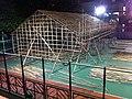 HK Causeway Bay night Moreton Terrace Playground bamboo house U Lan Festival Aug-2013.JPG