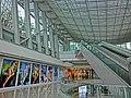 HK Central IFC mall interior ceiling n Escalators May 2013.JPG