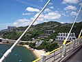 HK CityBus 960 view 汀九橋 Ting Kau Bridge 斜拉橋 Cable-stayed Tuen Mun District Tsing Long Highway August 2018 IX1 藍巴勒海峽 Rambler Channel 星悅海灣 Grand Rivera 07.jpg