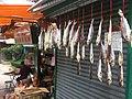 HK Sheung Wan 李陞街 Li Sing Street 掛咸魚干 Hanging dried fishes July-2011.jpg