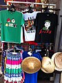 HK Stanley New Street market shop clothing T-shirts Obama Nov-2012.JPG