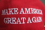 HK fans item the red cap hat cotton white words Make America Great Again label made in USA CF headwear April 2017 IX1 03.jpg