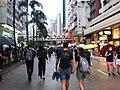 HK wan chai hennessy road black clothing people walking evening 2019-08-31 01.jpg