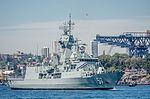 HMAS Perth (FFH 157) near Garden Island Naval Base