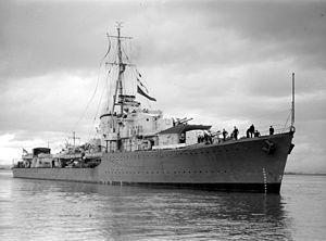 HMAS Nizam (G38) - Image: HMS Nizam SLV Green
