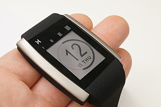 Smartwatch - HOT Watch by PHTL features a speaker and microphone on the strap allowing for calls to be answered on the watch.