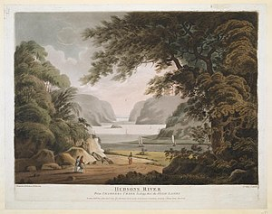 Quassaick Creek - Hudsons River From Chambers Creek looking thro' the High Lands, Aquatint by Francis Jukes (1802)