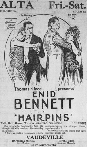 Hairpins (film) - Newspaper advertisement