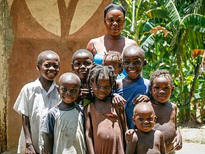 Afro-Haitians - Haitian family from a rural area