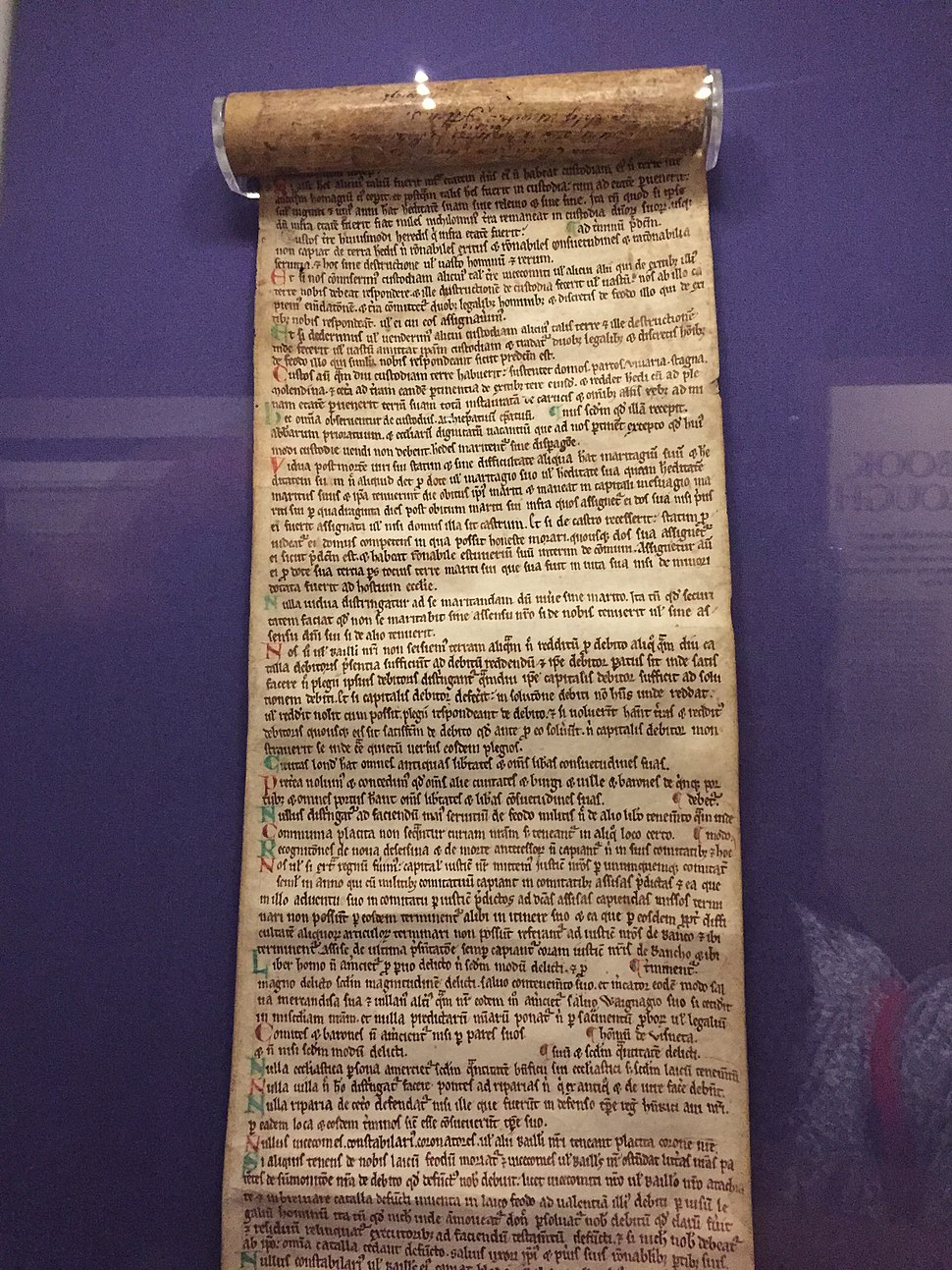 Halesowen Abbey Scroll (Magna Carta), Society of Antiquaries of London, UK - 20150617-02