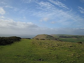 Hambury Tout from hills above Lulworth Cove - geograph.org.uk - 432348.jpg