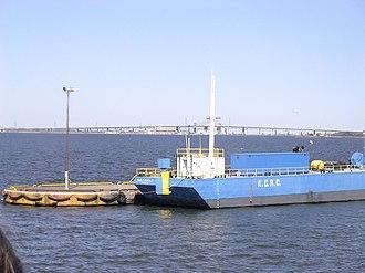 Hamilton Harbour - The Burlington Bay James N. Allan Skyway bridges the waters of Hamilton Harbour.