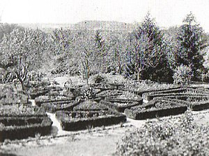 Hampton National Historic Site - Terraced gardens in 1872