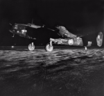 Handley Page Halifax Mark II Series I, W1170 'U', of No. 463 Squadron RAAF, taxying out at Fayid, Egypt, for a night raid on Axis positions.png