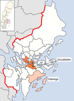 Haninge Municipality - Image: Haninge Municipality in Stockholm County