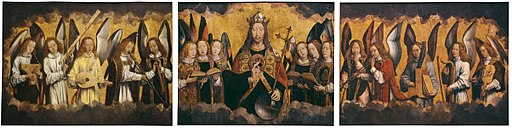 Hans Memling - Christ with Singing and Music-Making Angels - KMSKA 778-780