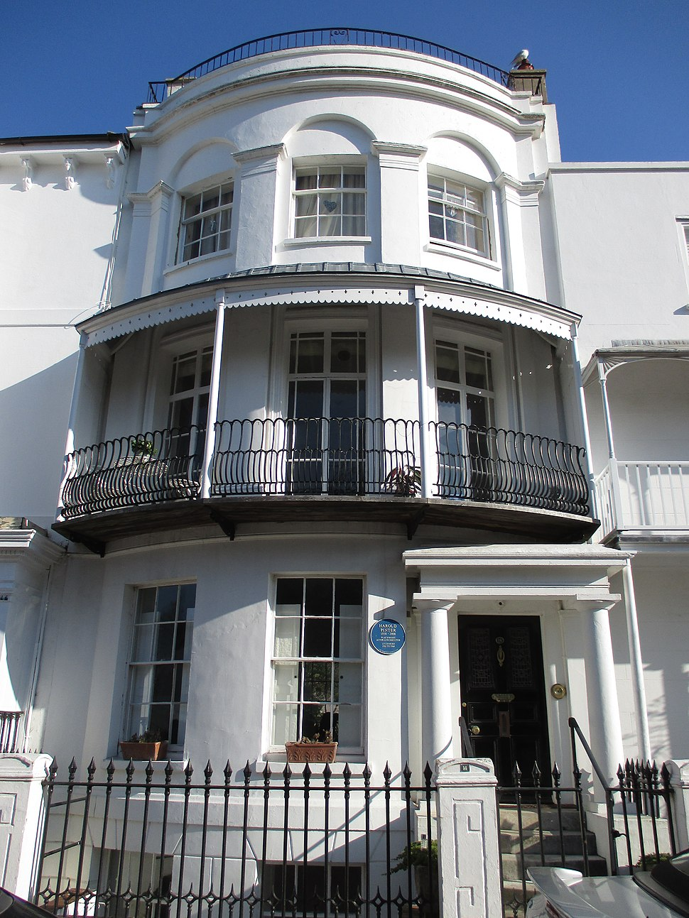 Harold Pinter's home, Worthing