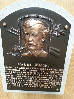 Harry Wright - Wright's plaque at the National Baseball Hall of Fame and Museum