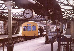 Hartlepool railway station - Hartlepool station in August 1981