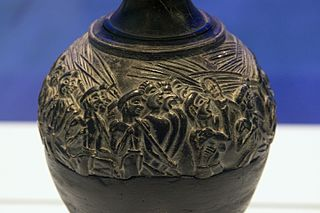 Harvester Vase detail with sistrum