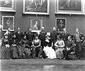Hat trick - Royal visitors in the Picture Gallery, Kilkenny Castle - Flickr - National Library of Ireland on The Commons.jpg