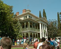 The Haunted Mansion is patterned after a Southern plantation home.